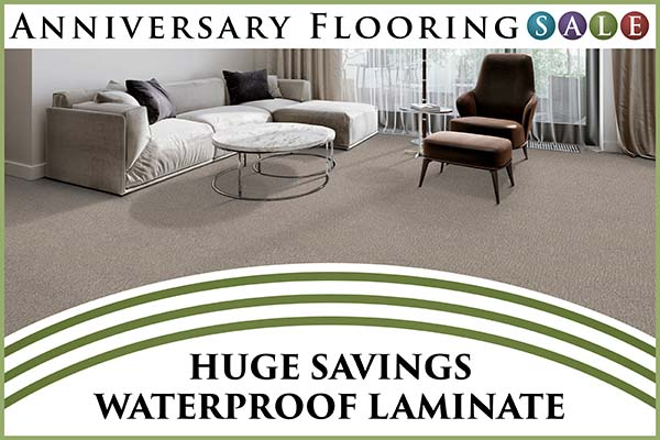 Anniversary sale going on now!  Huge savings on waterproof laminate only at Murley's Floor Covering in Kennewick, Washington